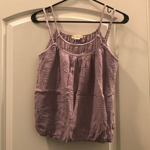 Lilac tank top from anthropology
